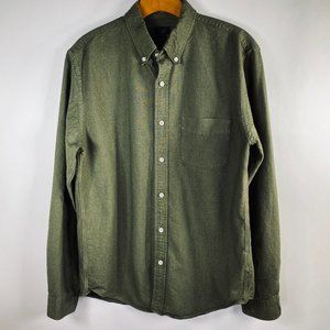 J.Crew Oxford Green Button Down Shirt Size Md